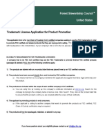 Trademark License Application for Product Promotion