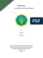 Proposal Biodisel Minyak Jelantah