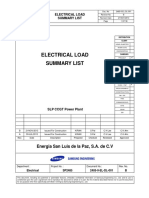 2485-0-El-dl-001[Electrical Load Summary List] Rev b