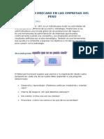 Lectura Balanced Scorecard en Las Empresas Del Peru