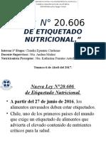 Ley de Etiquetado Nutricional Listo