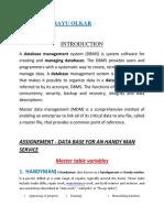 Data Base - Handy Man - Chirayu Olkar Roll No.46