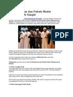 13 Keutamaan Dan Pahala Shalat Berjamaah Di Masjid