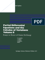 (Progress in Nonlinear Differential Equations and Their Applications 1) Jens Frehse (Auth.), Ferruccio Colombini, Antonio Marino, Luciano Modica, Sergio Spagnolo (Eds.)-Partial Differential Equations