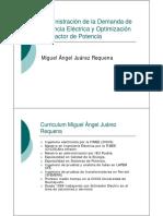Administración de La Demanda de Potencia Eléctrica y Optimización de Factor de Potencia