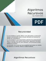 Algoritmos Recursivos