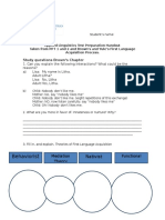 Applied Linguistics Test Preparation Handout