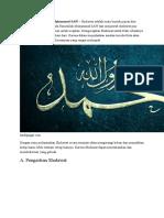 Bacaan Sholawat Nabi Muhammad SAW