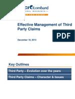 EffectiveManagementofThirdPartyClaims_SanjayDatta
