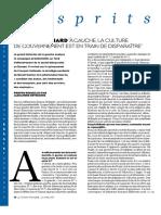 Jacques Julliard a Gauche, La Culture de Gouvernement Est en Train de Disparaître - Figaro Mag 2017 04 21