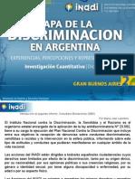 Mapa de la Discriminación en la Argentina. Vivencias, percepciones y representaciones