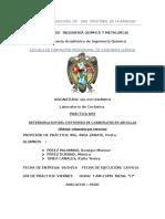 Determinacion Del Contenido de Carbonatos en Arcillas