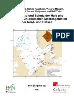 Gefährdung und Schutz der Haie und Rochen in den deutschen Meeresgebieten der Nord- und Ostsee (BfN Skript450)