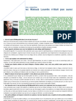 Interview de Lounis Aït menguellet à El Watan
