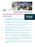 JUL 20 KBC Sunrise Mkt Commentary