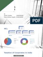Hcl Tech- Taxation