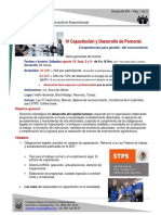IV Capacitación y Desarrollo de Personal - DDRH