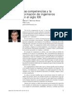 Las Competencias y La Formacion de Ingeniero