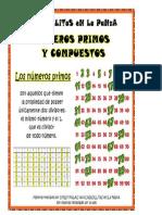 Cartel Numeros Primos