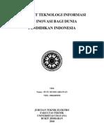 Manfaat Teknologi Informasi Dan Inovasi Bagi Dunia Pendidikan Indonesia