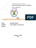 Extincion de especies forestales