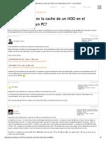 Influencia Del Cache de Un HDD en El Rendimiento de Un PC