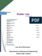 Solar Car Project Report