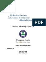 Meezan Bank Internship Report