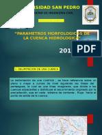 Parametros Morfologicos de La Cuenca