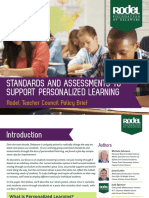 Rodel Teacher Council Brief Standards and Assessments