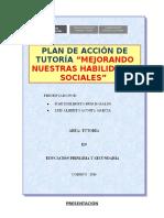 3.- Puntajes Del Pre Test de Evaluación de Las Habilidades Sociales