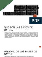 Búsqueda y Recuperación de Información en Bases
