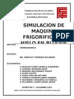 SIMULACION DE MAQUINA FRIGORIFICA DE HIELO EN BLOQUE