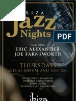 Ibiza Jazz Nights in Riverdale