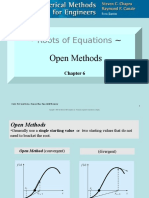 Roots of Equations - Open Methods