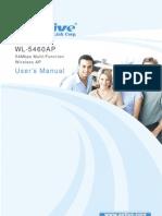 WL-5460AP 54Mbps Multi-Function Wireless AP User's Manual