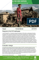 Humanitarian Quality Assurance – Nepal: Evaluation of Oxfam's response to the Nepal 2015 earthquake
