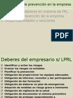 Tema 7 Plan de Prevención en La Empresa