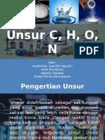 UNSUR C, H, O, N