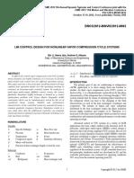 Lmi Control Design Nonlinear Vapor Compression Cycle