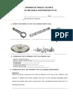Examen de Mecanica Automotriz