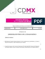 Gaceta CDMX Aumento Transporte Público Concesionado