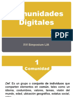 Comunidades digitales