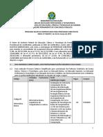 Edital 18 Professor Substituto Campina Soledade