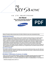 ATT SM-G870A Galaxy S5 Active English User Manual KK NE4 F5 AC