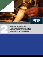 """Control de Calidad en La Fabricación de Muebles en Madera en Mype de Lima"""""""