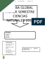 Evaluación global ciencias 2°