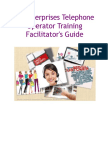PJ Enterprises Telephone Operator Training Facilitator's Guide