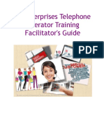 PJ Enterprises Telephone Operator Training Facilitator's Guide