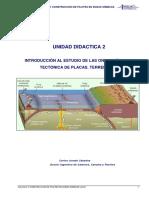 u. d. 2 Introducción Al Estudio de Las Ondas Sísmicas. Tectónica de Placas. Terremotos